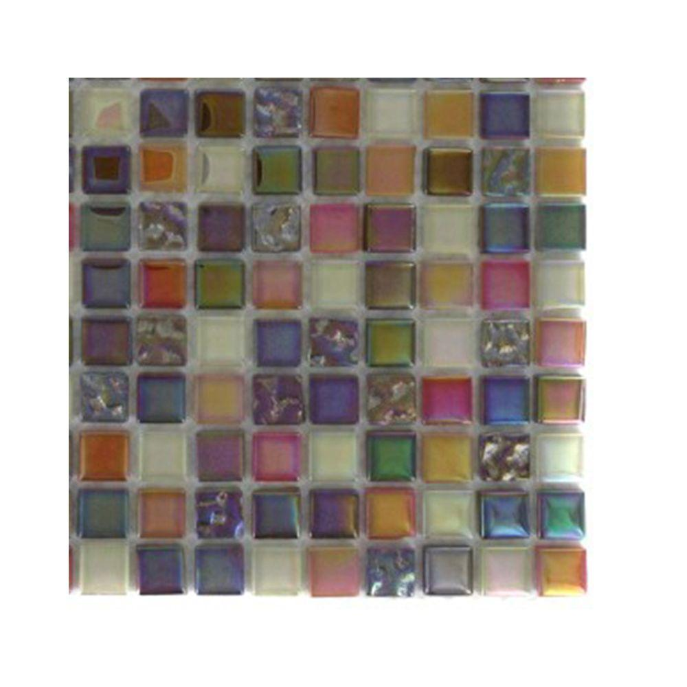 Capriccio Scandicci Glass Mosaic Floor and Wall Tile - 3 in.