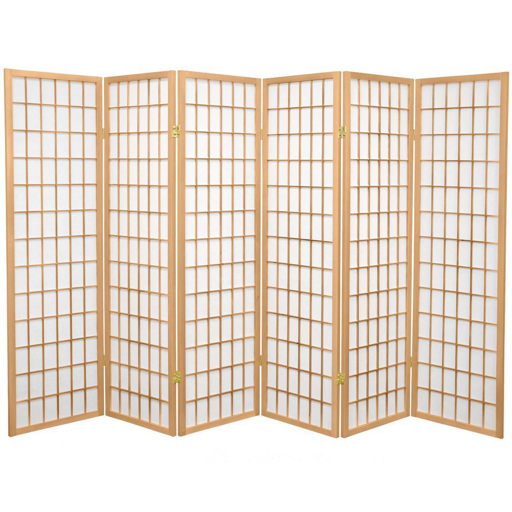 5 ft. Natural 6-Panel Room Divider