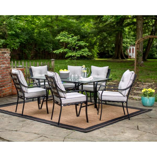 Hanover Lavallette 7 Piece Patio Outdoor Dining Set Lavallette7pc The Home Depot