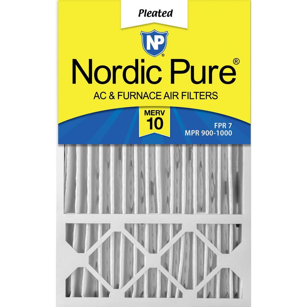 Nordic Pure 10x30x1 MPR 1900 Healthy Living Maximum Allergen Reduction Replacement AC Furnace Air Filters 6 Pack