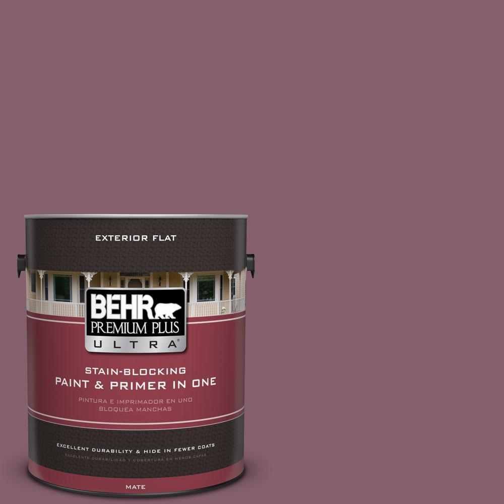 BEHR Premium Plus Ultra 1-gal. #BIC-35 Vintage Plum Flat Exterior Paint