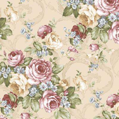 Grand Floral Vinyl Peelable Roll (Covers 56 sq. ft.)