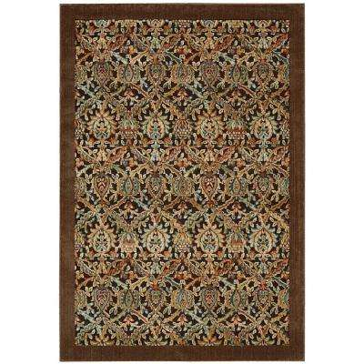 Graphic Illusions Chocolate 4 ft. x 6 ft. Area Rug