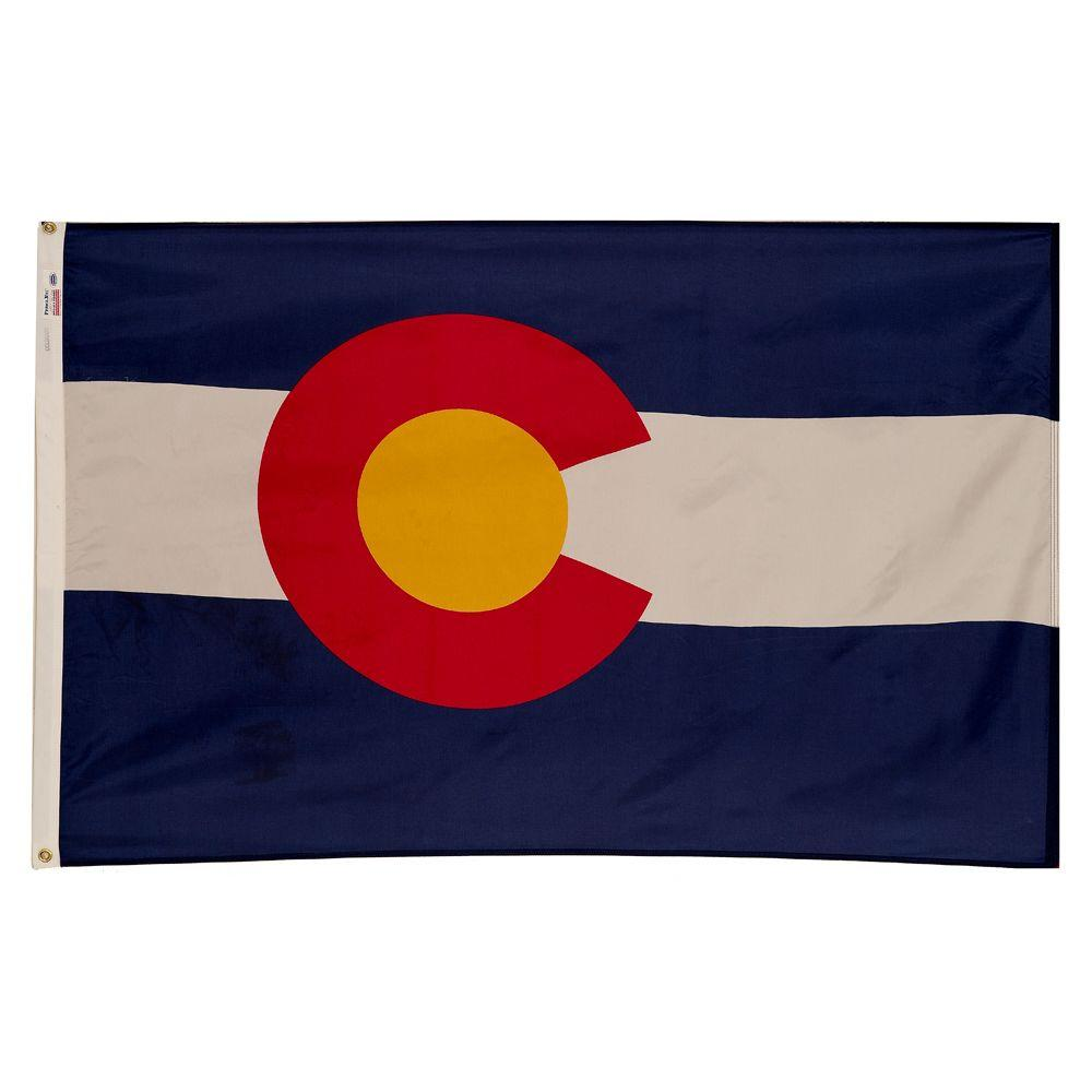 Valley Forge Flag 3 ft. x 5 ft. Nylon Colorado State Flag