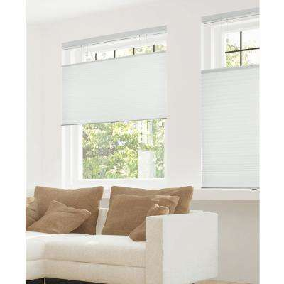 Cut-to-Width Gray Sheen 9/16 in. Cordless Cellular Shades - 72 in. W x 72 in. L
