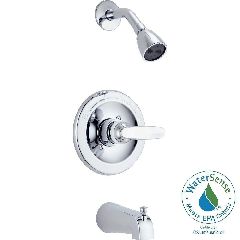 Foundations 1-Handle Tub and Shower Faucet Trim Kit in Chrome (Valve