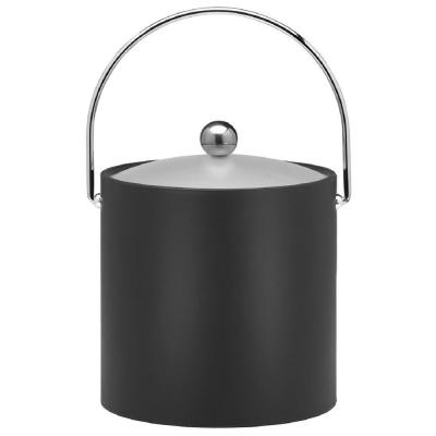 Bartenders Choice Fun Colors 3 Qt. Black Ice Bucket (Case of 6)