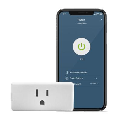 Decora Smart Wi-Fi Mini Plug-In Single Outlet No Hub Required, Works with Alexa and Google Assistant, White (2-Pack)