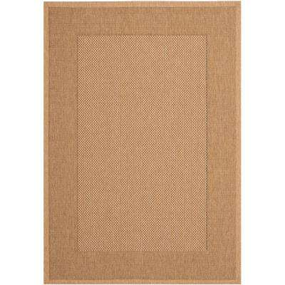 Courtyard Natural/Gold 8 ft. x 11 ft. Indoor/Outdoor Area Rug
