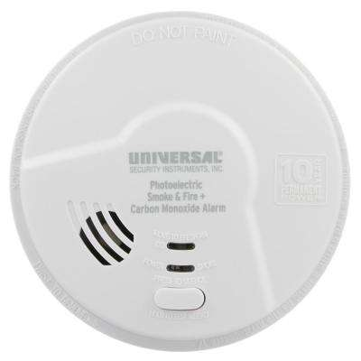 10 Year Sealed, Battery Operated, Dual Sensing 2-In-1 Smoke and Carbon Monoxide Detector, Microprocessor Intelligence