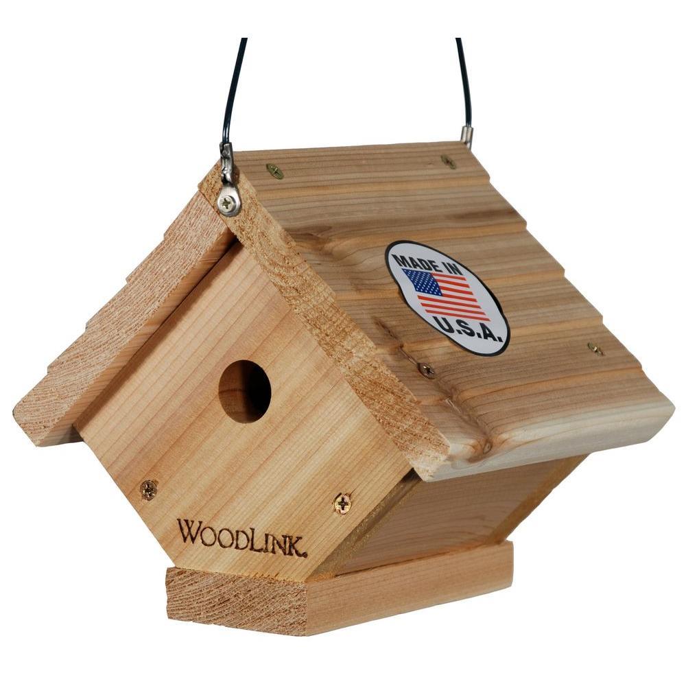 woodlink cedar traditional wren bird house wren2 the home depot