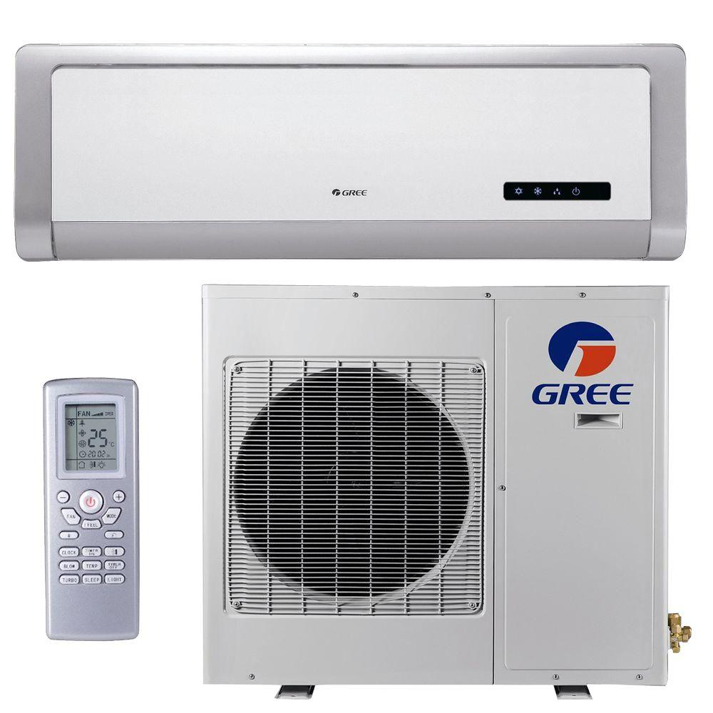 GREE High Efficiency 9,000 BTU Ductless Mini Split Air Conditioner with Heat - 115V/60Hz-DISCONTINUED