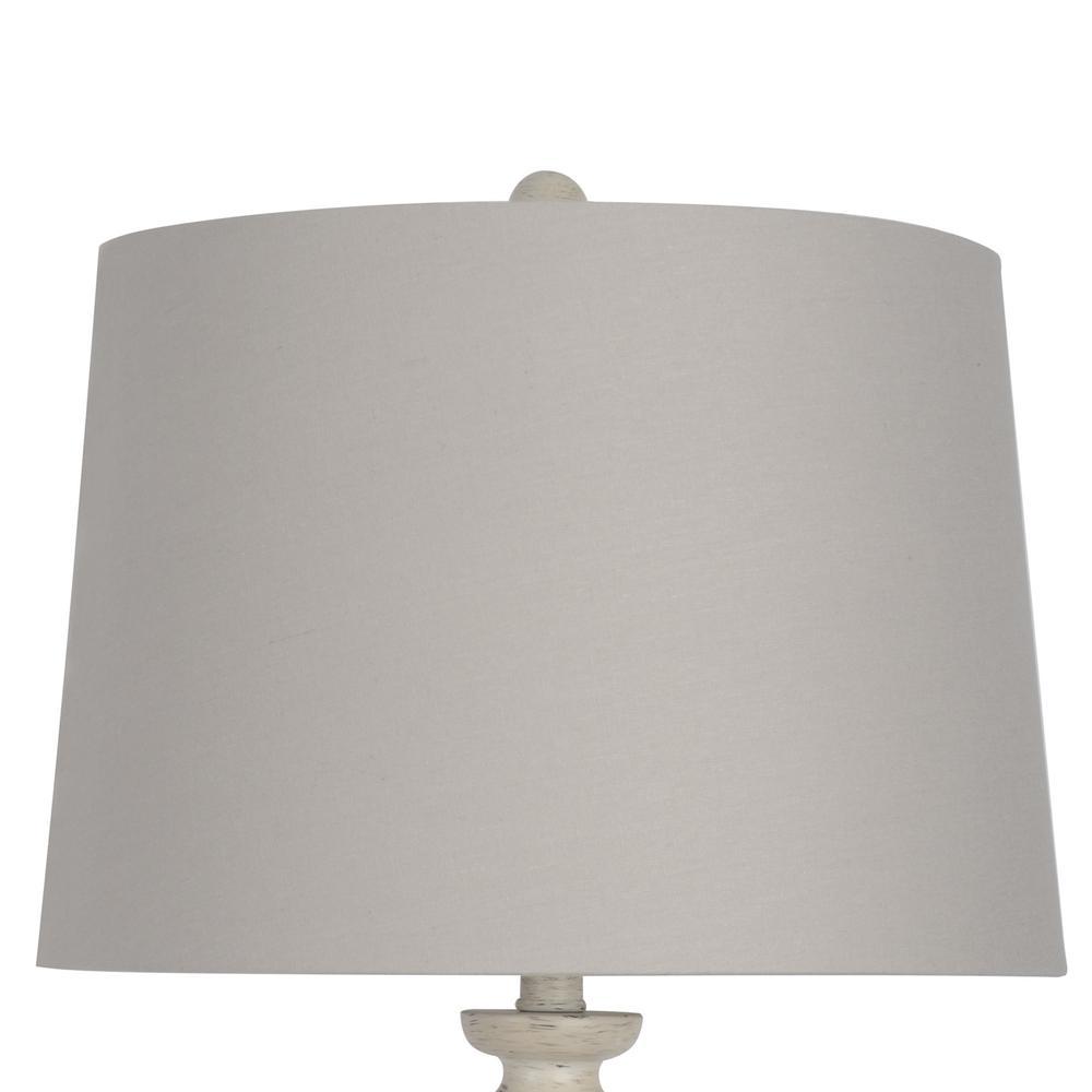 Shabby White Floor Lamp With Gray