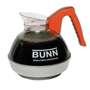 Click here to buy BUNN 12-Cup Easy Pour Commercial Decanter with Orange Handle (3-Pack) by BUNN.