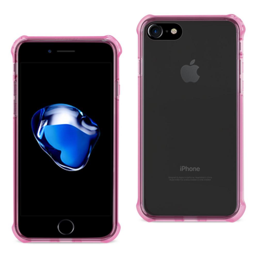 reiko iphone 7 air cushion case in clear hot pink tpu09 iphone7clhk the home depot. Black Bedroom Furniture Sets. Home Design Ideas