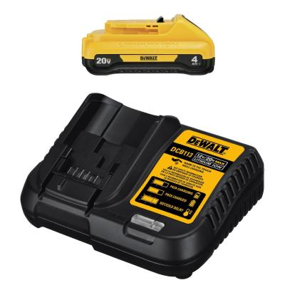 20-Volt MAX Compact Lithium-Ion 4.0Ah Battery Pack with 12-Volt to 20-Volt MAX Charger