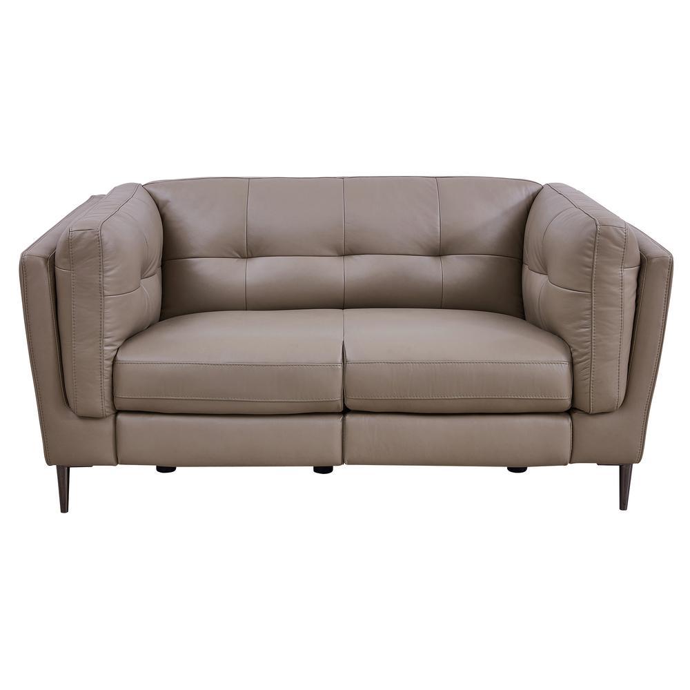 Swell Armen Living Primrose Dark Metal And Greige Genuine Leather Bralicious Painted Fabric Chair Ideas Braliciousco