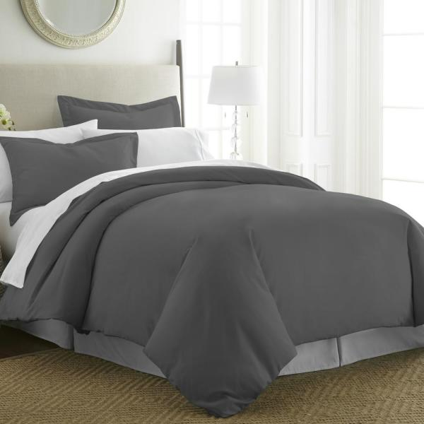 Performance Gray Twin 3-Piece Duvet Cover Set