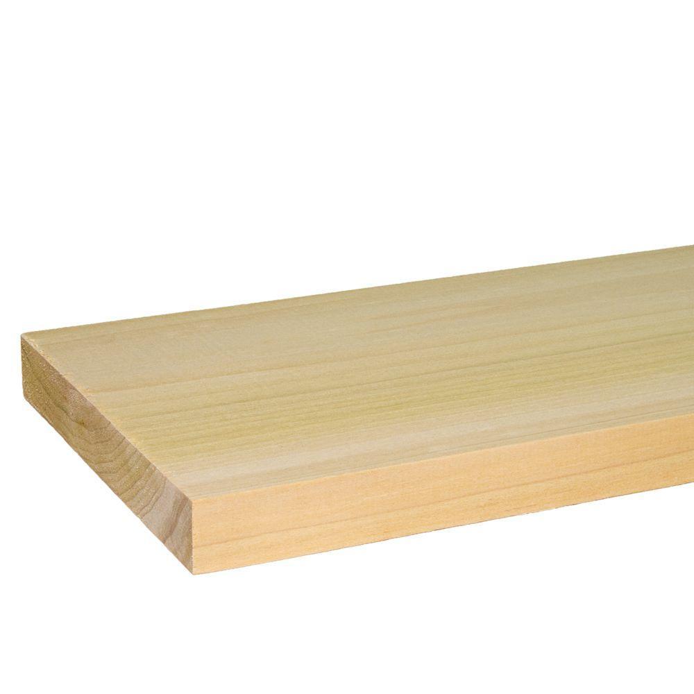 Builder's Choice 1 in. x 6 in. x 8 ft. S4S Poplar Board (2-Pack)