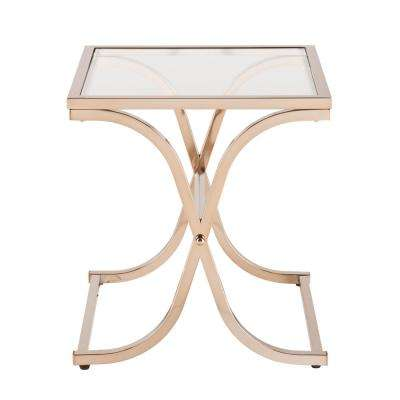Fulton Champagne Contoured End Table