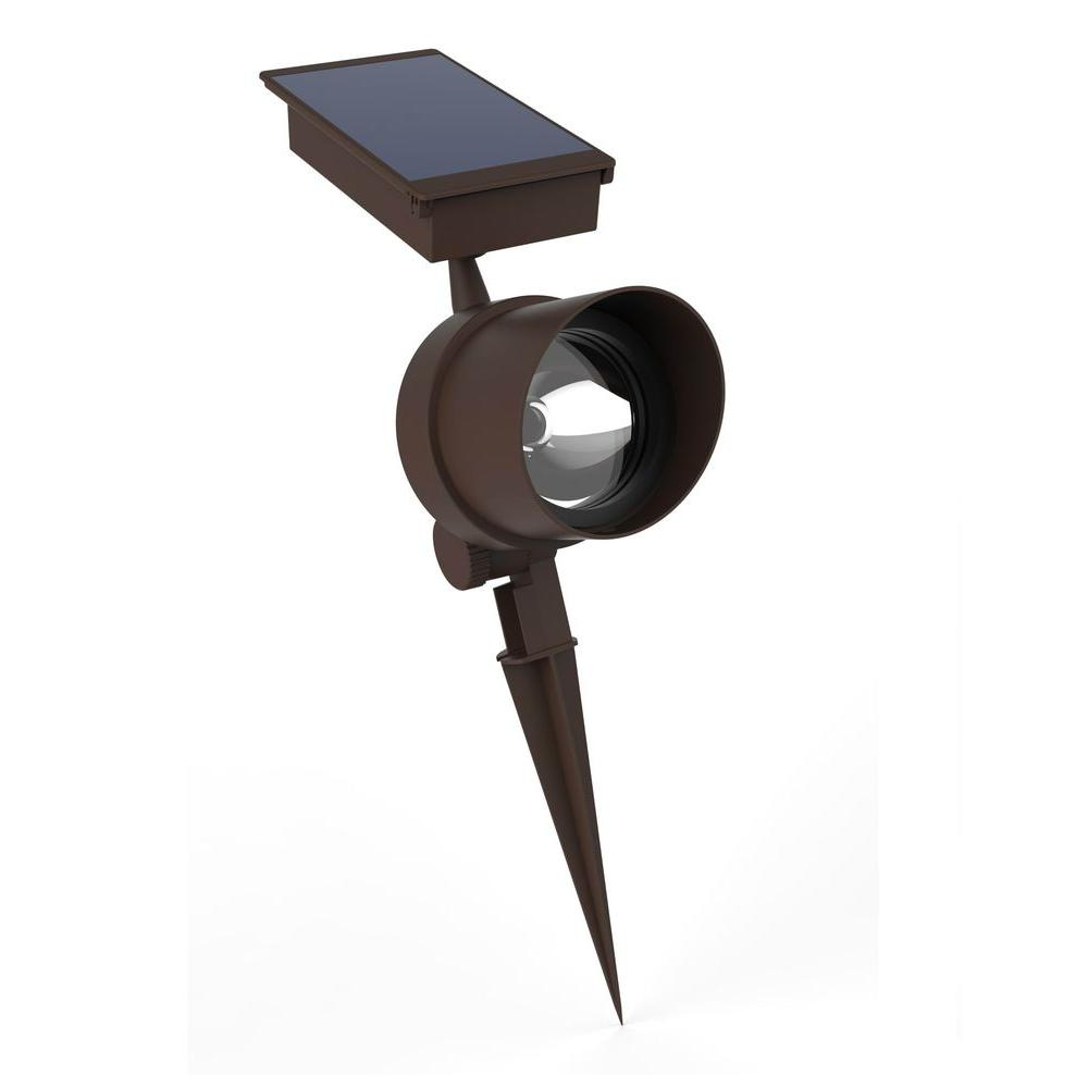 Hampton bay solar bronze outdoor integrated led metal landscape spot hampton bay solar bronze outdoor integrated led metal landscape spot light aloadofball Image collections