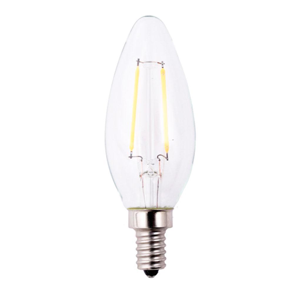 40w Equivalent Soft White Vintage Filament A19 Dimmable: EcoSmart 40W Equivalent Soft White B11 Dimmable Filament