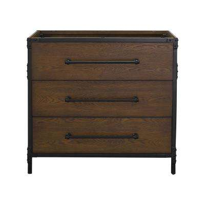 Grandburgh 36 in. W x 22 in. D Vanity Cabinet Only in Coffee Swirl
