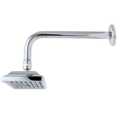 Claremont 1-Spray 6 in. Showerhead with Shower Arm in Chrome
