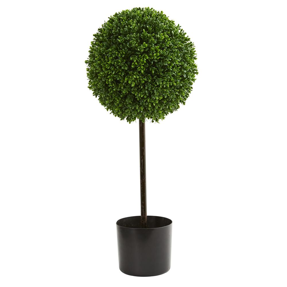 Uv Resistant Indoor Outdoor Boxwood Ball Artificial Topiary Tree 5493 The Home Depot
