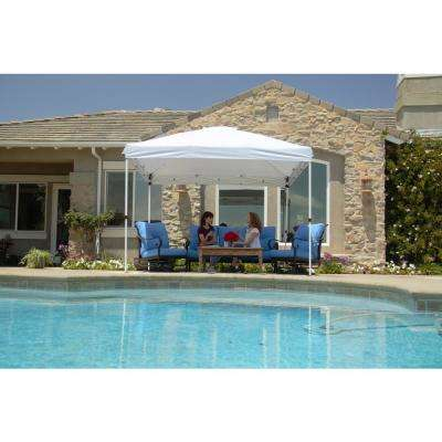 10 ft. x 10 ft. White Commercial Instant Canopy-Pop Up Tent with Wall Panel