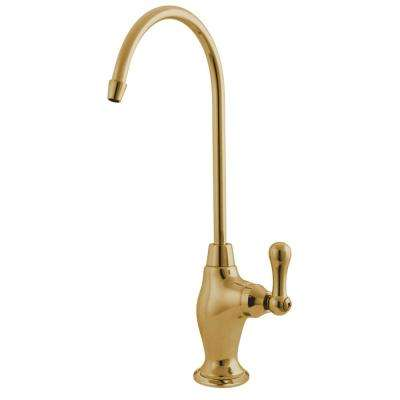 Drinking Water Filtration Single-Handle Beverage Faucet in Polished Brass