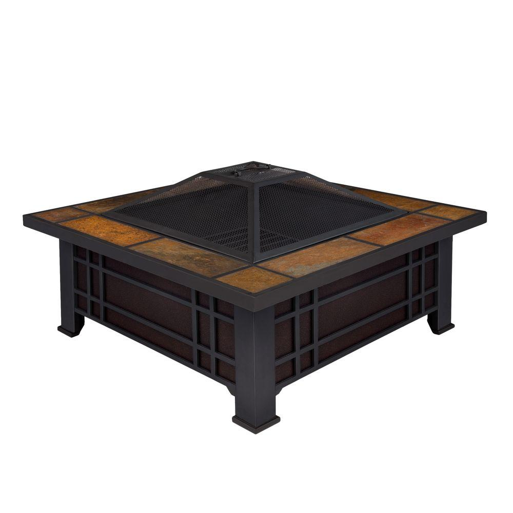Real Flame Morrison 34 in. Wood Burning Fire Pit