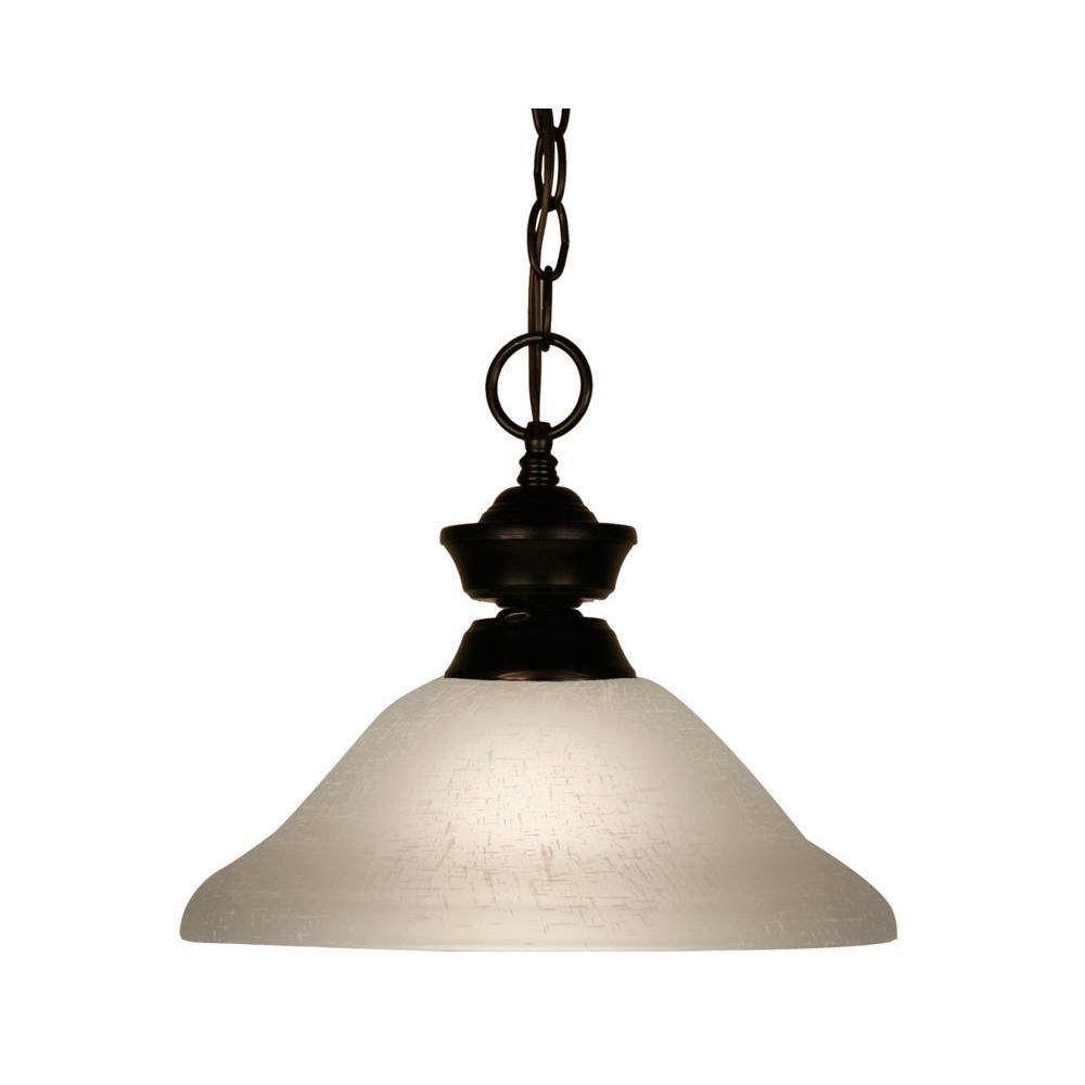 Tulen Lawrence 1-Light Bronze Incandescent Ceiling Pendant