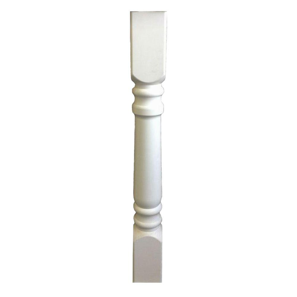 Porch And Newel 48 In X 4 Vinyl Turned Fence Post Sleeve
