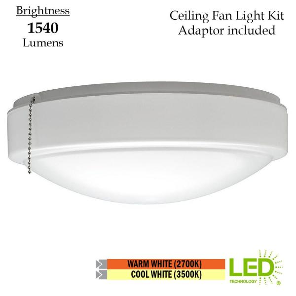 Hampton Bay 11 In Warm And Bright White Light Universal Led