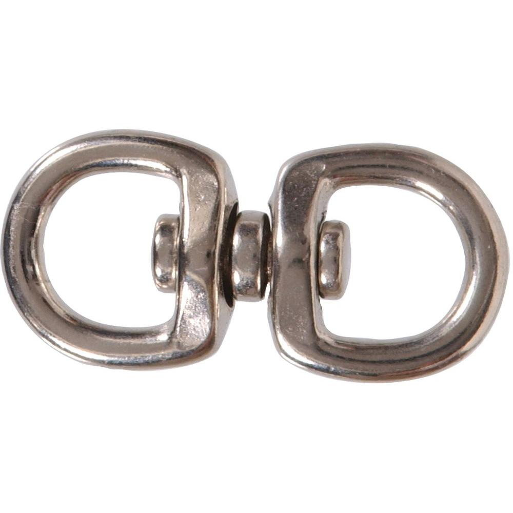 The Hillman Group 5/8 x 2-1/2 in. Double Swivel with Round Eyes in Nickel Plated (10-Pack)