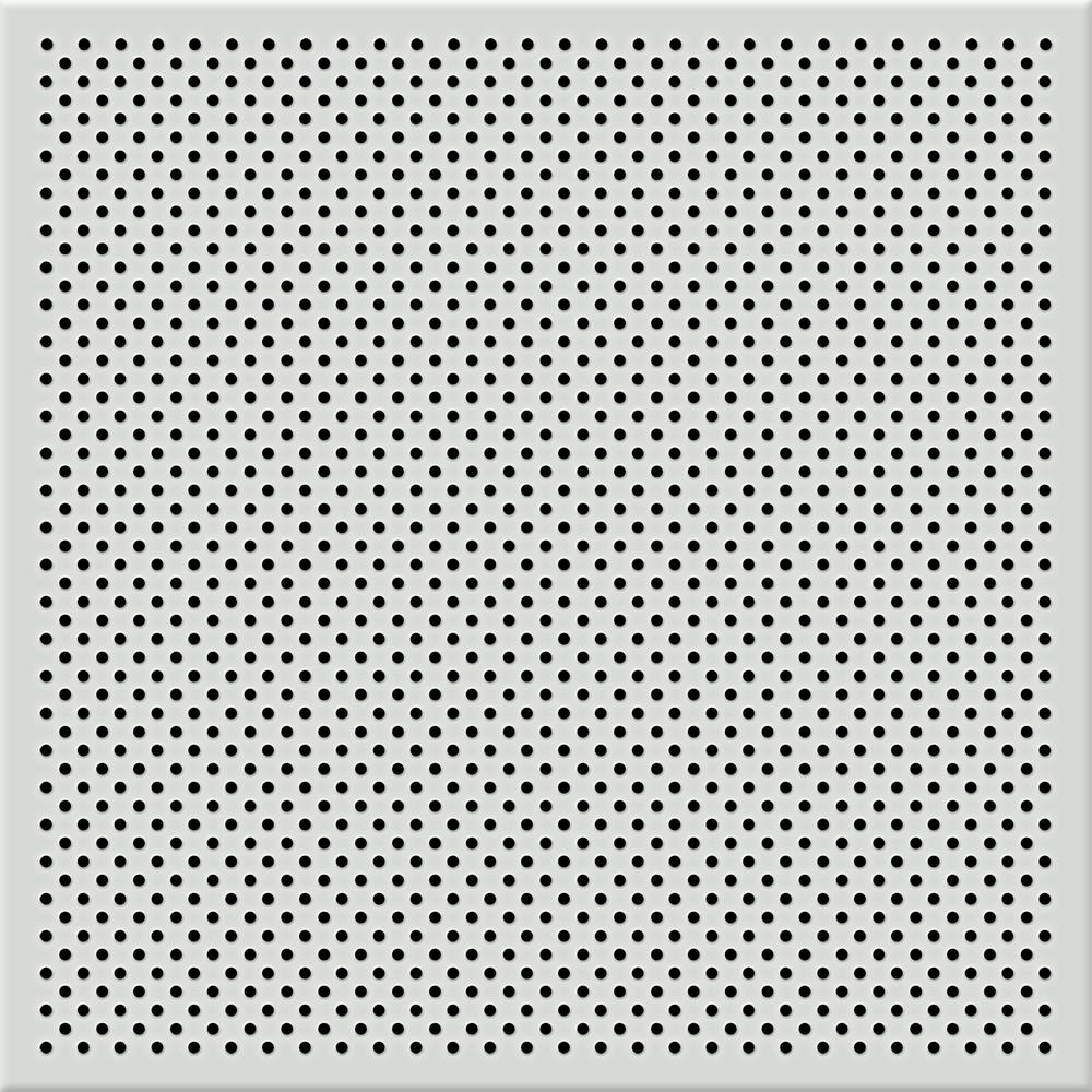 Toptile White 2 Ft X 2 Ft Perforated Metal Ceiling Tiles