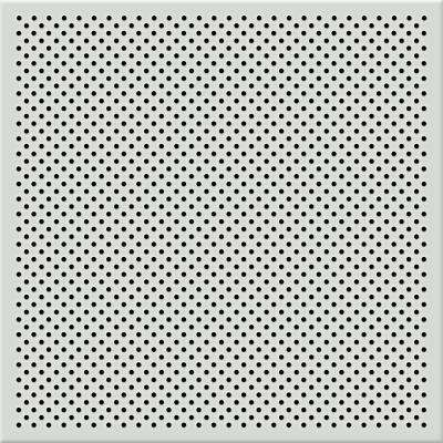 White 2 ft. x 2 ft. Perforated Metal Ceiling Tiles (Case of 10)