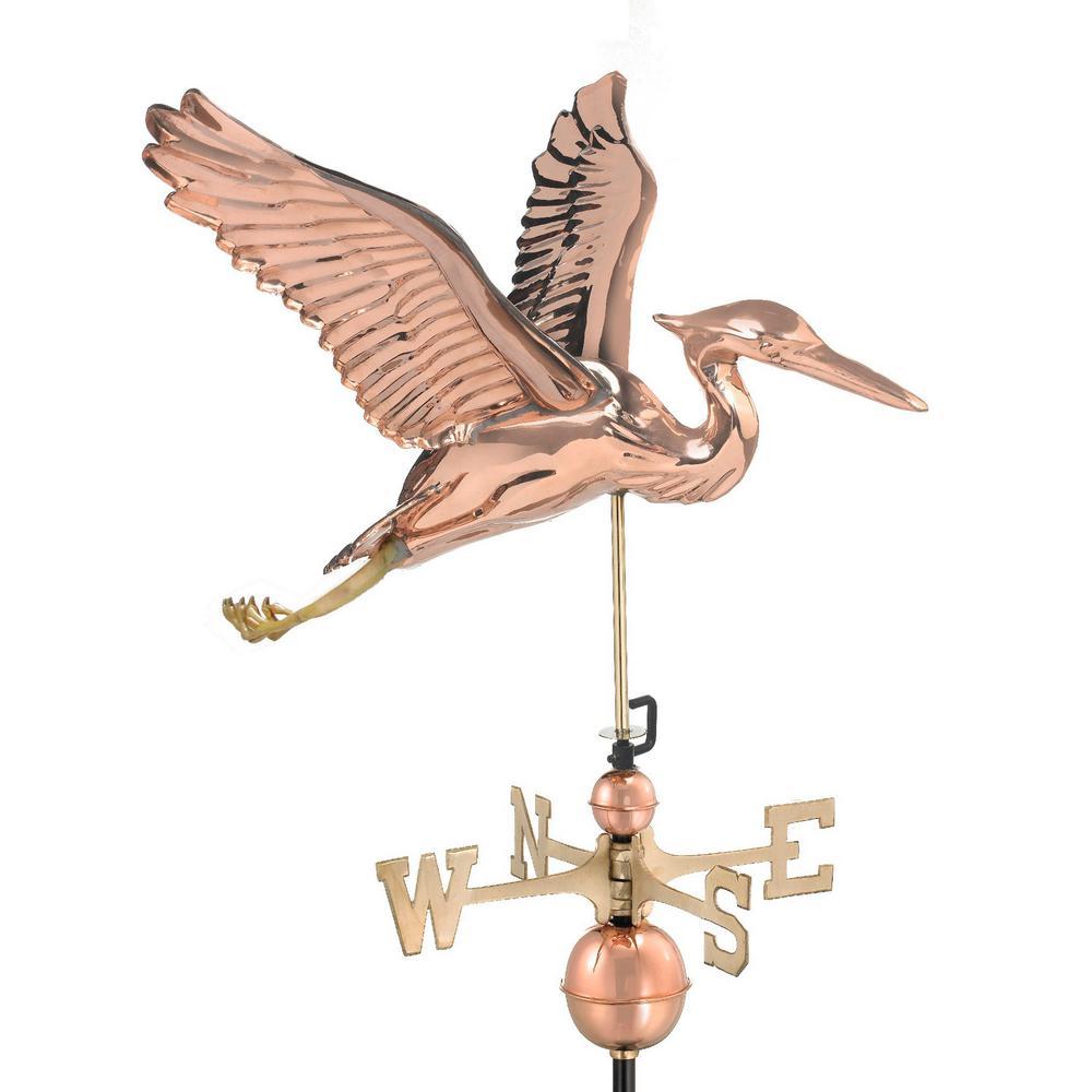 Blue Heron Weathervane - Pure Copper