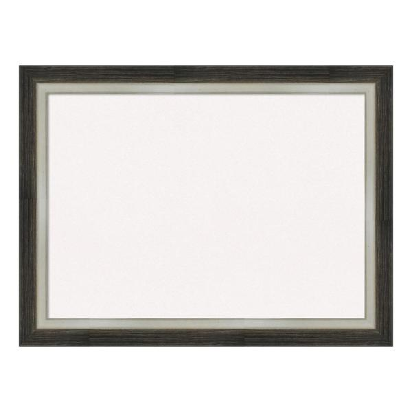 Amanti Art Brushed Metallic Wood Framed White Cork Memo Board DSW4093077