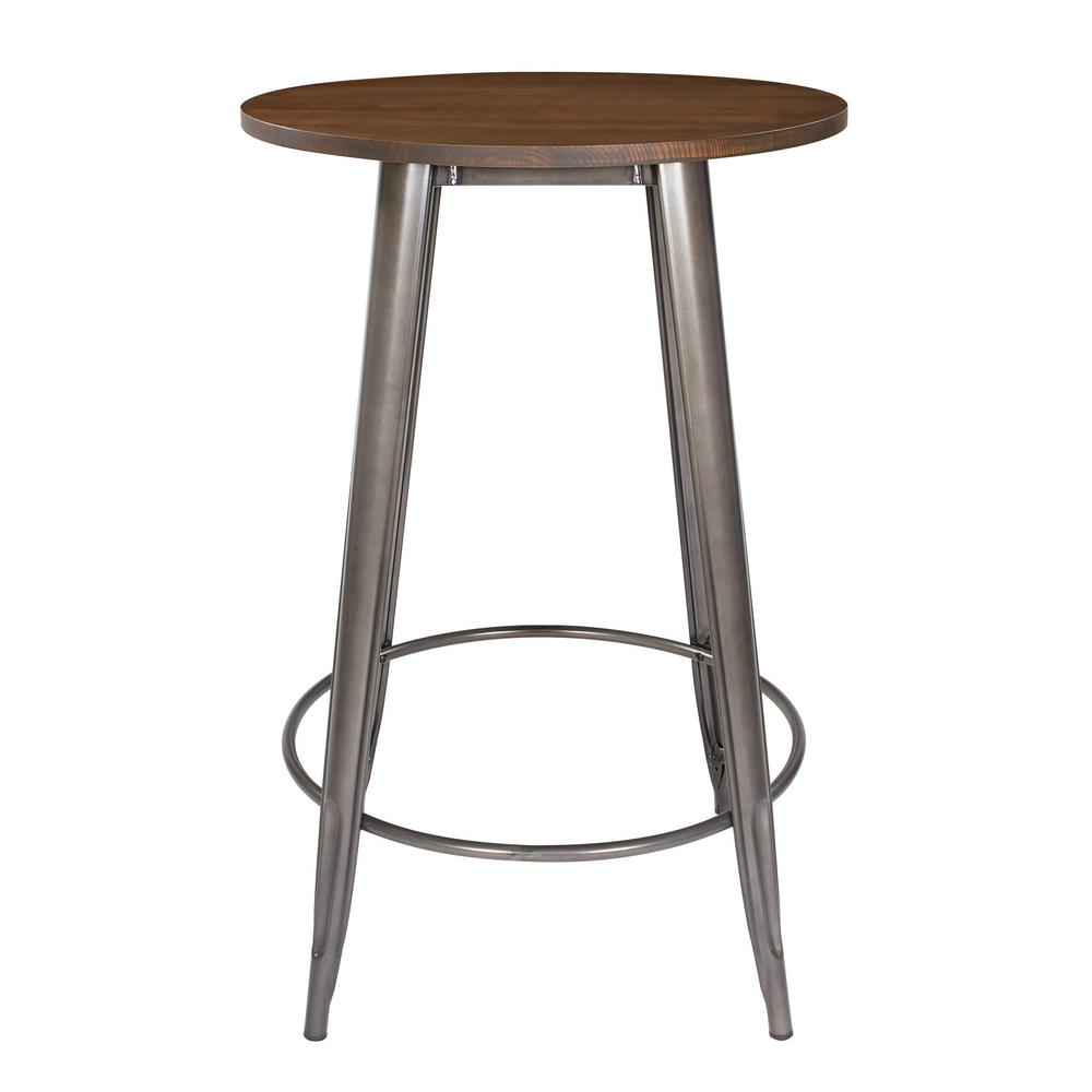 Metal Grey Counter Height Table