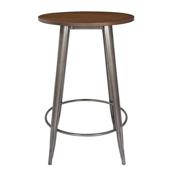 OSP Home Furnishings 30 in. Metal Grey Counter Height Table with