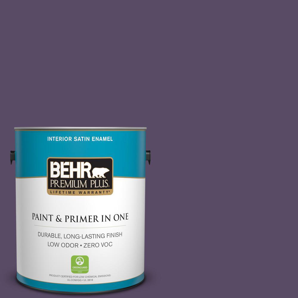 1-gal. #M560-7 Muscat Grape Satin Enamel Interior Paint