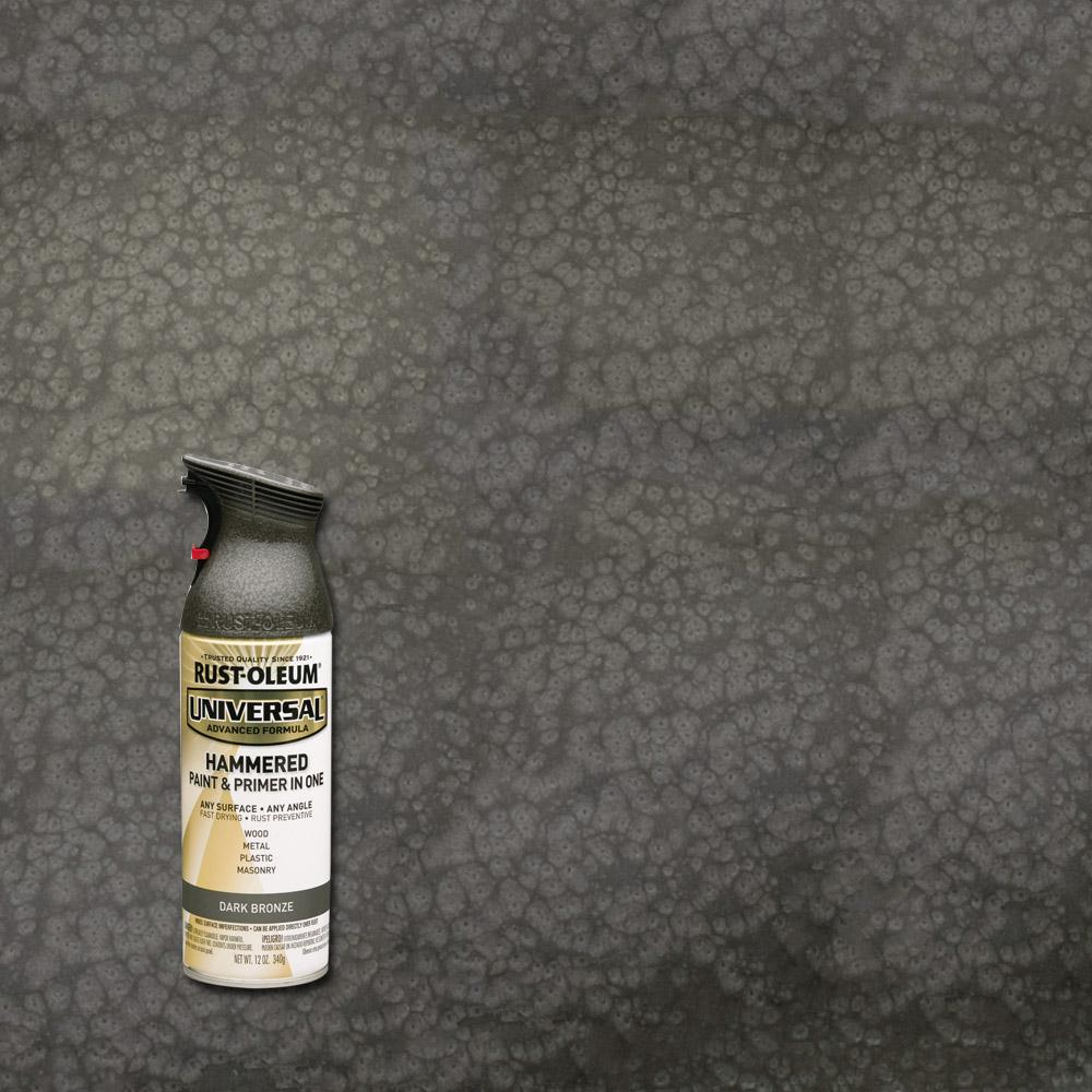Rust Oleum Universal 12 Oz All Surface Hammered Dark Bronze Spray Paint And Primer In One