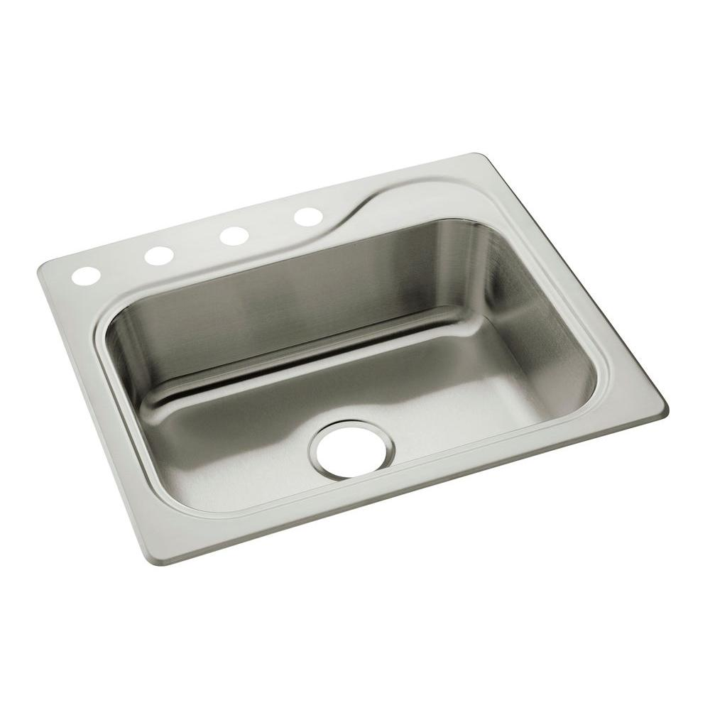 Sterling southhaven drop in stainless steel 245 in 4 hole single sterling southhaven drop in stainless steel 245 in 4 hole single basin kitchen workwithnaturefo