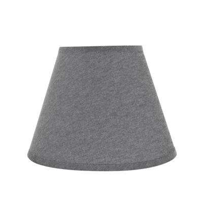 12 in. x 9 in. Grey Hardback Empire Lamp Shade