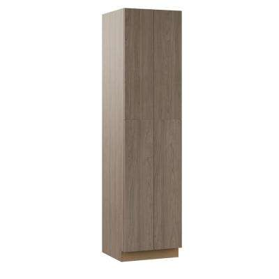 Edgeley Assembled 24x96x23.75 in. Pantry Kitchen Cabinet in Driftwood