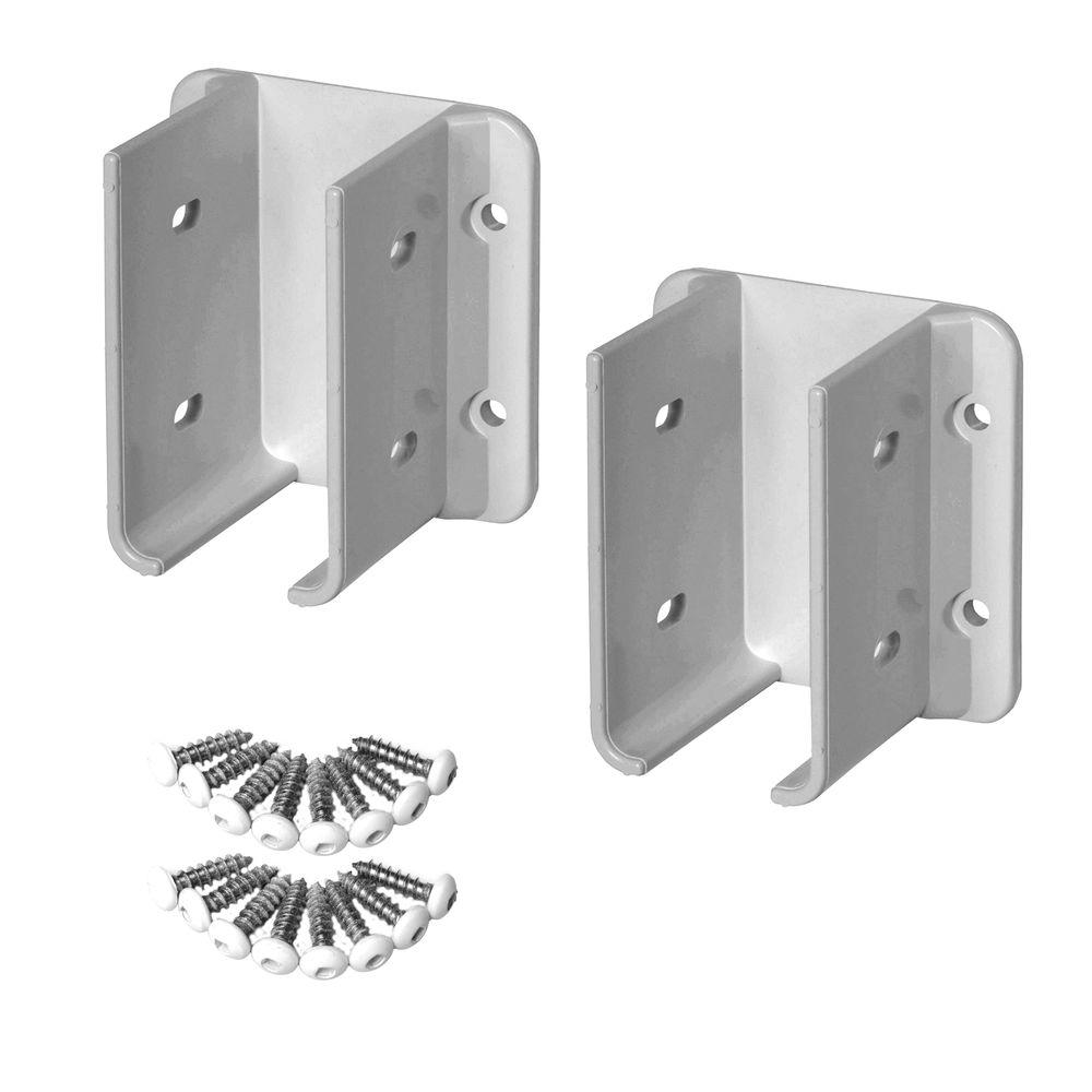 Veranda White Vinyl Fence Bracket Kit (2-Pack)