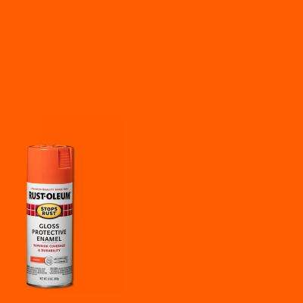 12 oz. Protective Enamel Gloss Orange Spray Paint (6-Pack)