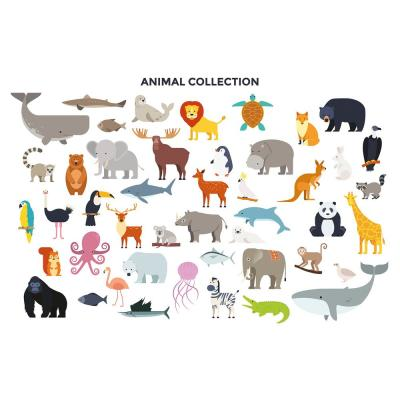 OhPopsi Animal Collection Wall Mural